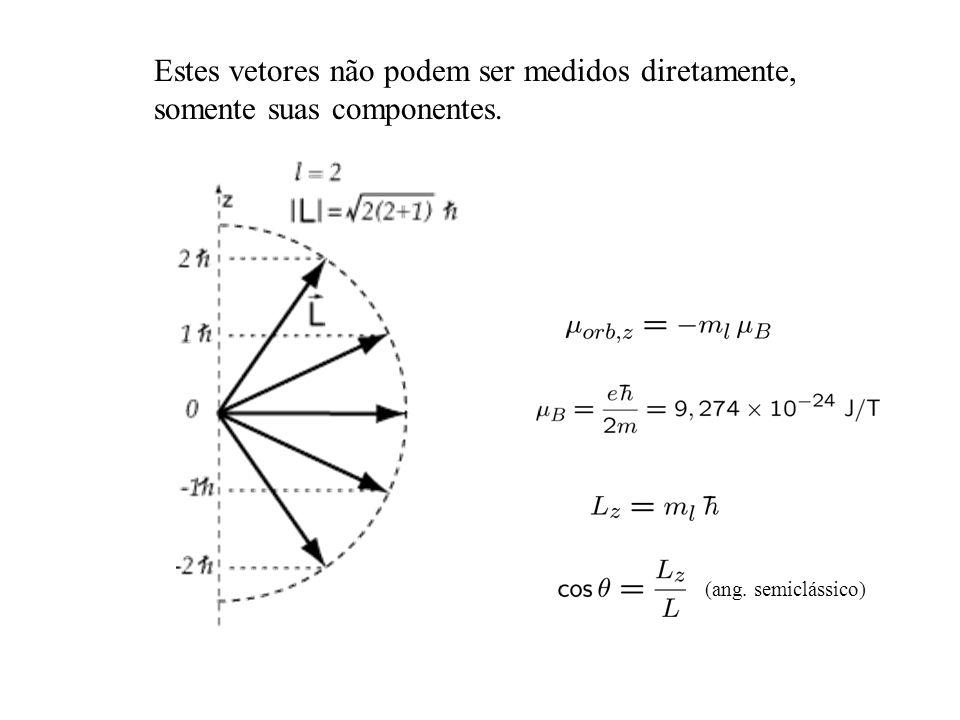Estes vetores não podem ser medidos diretamente, somente suas componentes.
