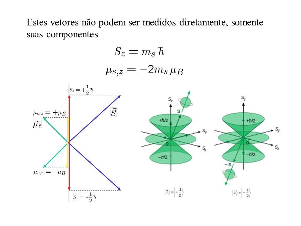 Estes vetores não podem ser medidos diretamente, somente suas componentes