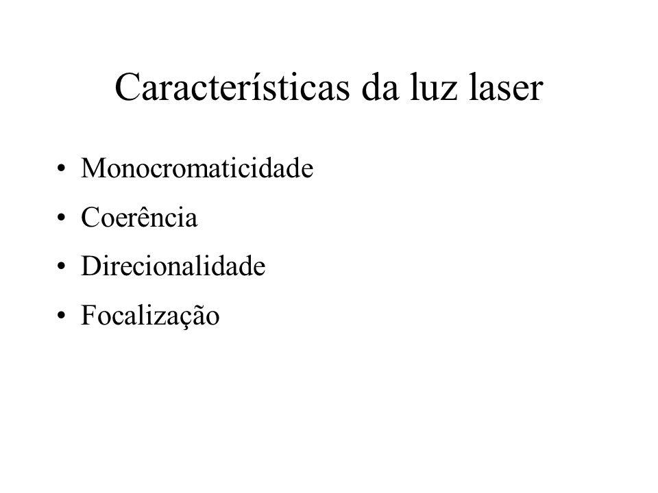 Características da luz laser