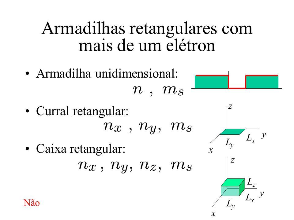 Armadilhas retangulares com mais de um elétron