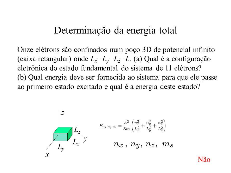 Determinação da energia total