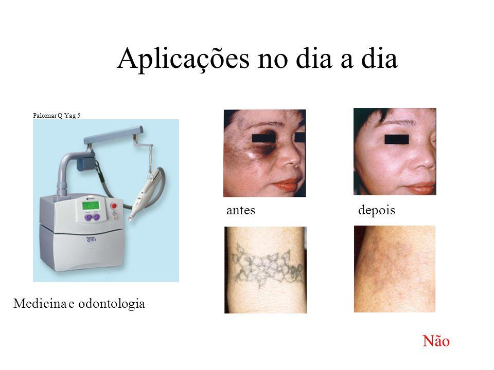 Aplicações no dia a dia Não antes depois Medicina e odontologia