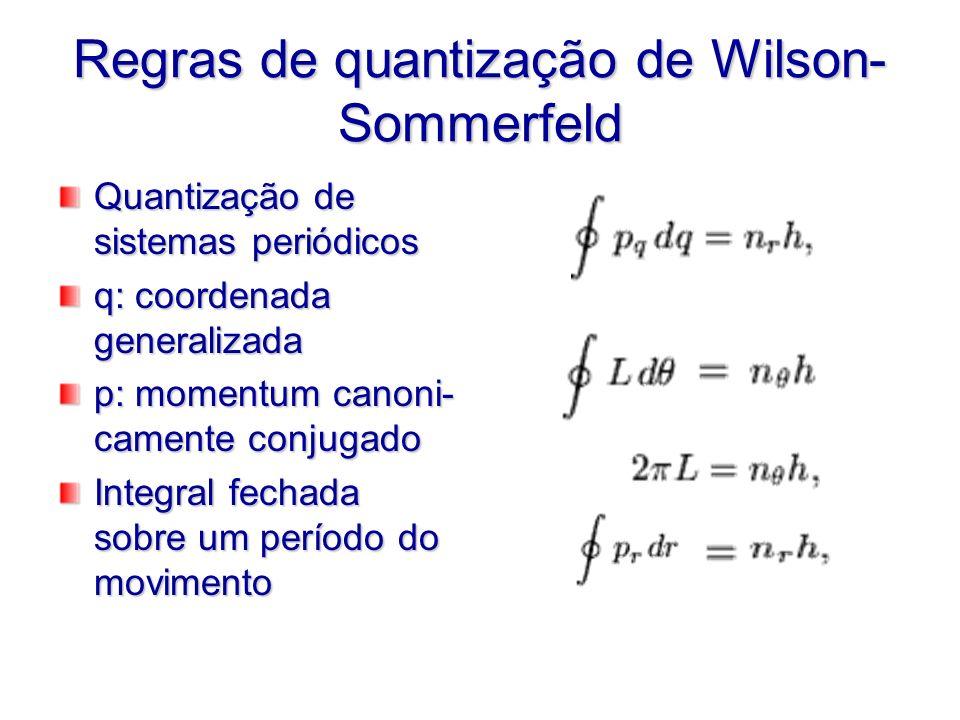 Regras de quantização de Wilson-Sommerfeld
