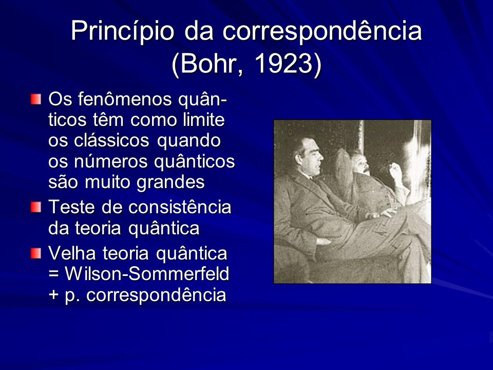 Princípio da correspondência (Bohr, 1923)