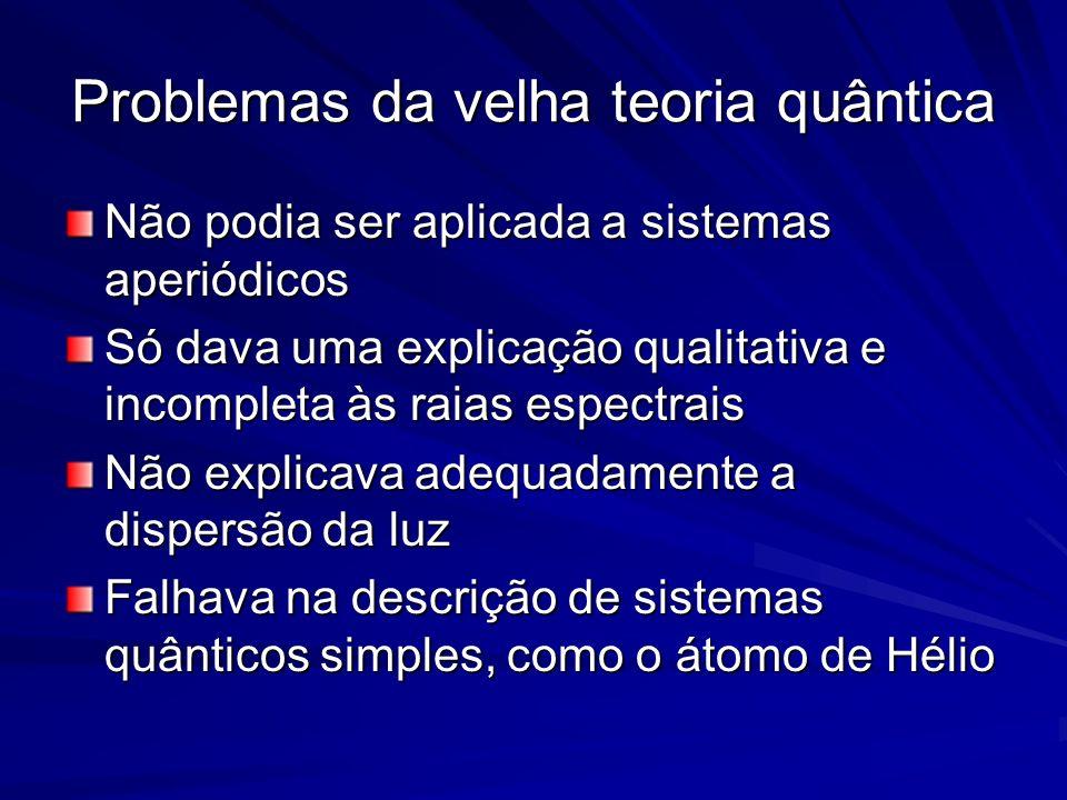 Problemas da velha teoria quântica