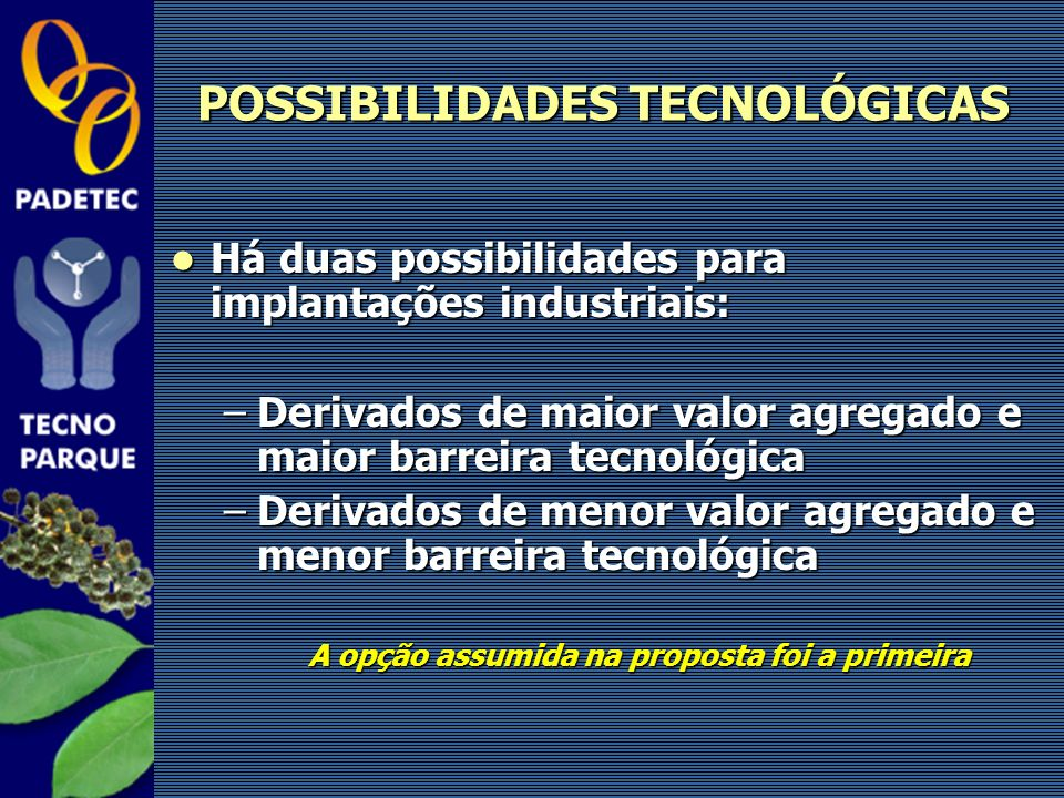POSSIBILIDADES TECNOLÓGICAS