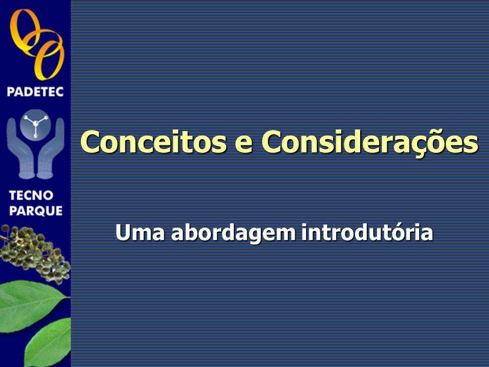Conceitos e Considerações