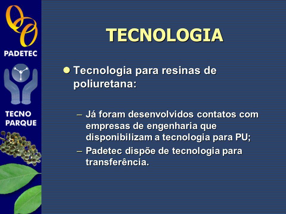 TECNOLOGIA Tecnologia para resinas de poliuretana: