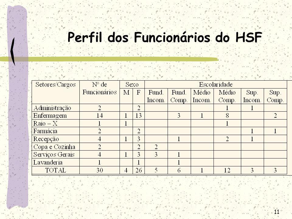 Perfil dos Funcionários do HSF