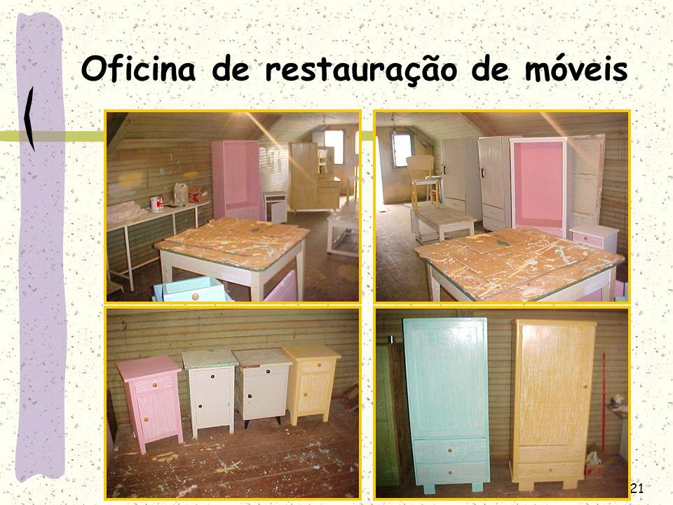 Oficina de restauração de móveis