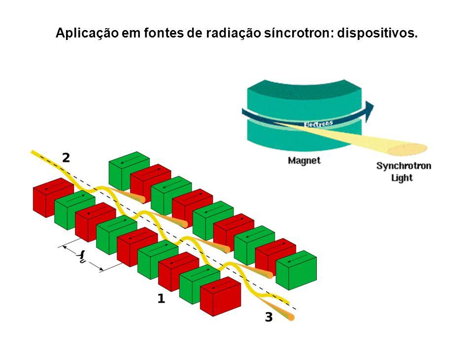 Aplicação em fontes de radiação síncrotron: dispositivos.