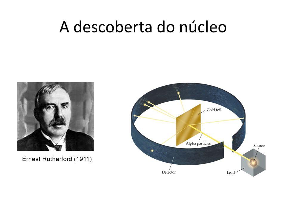 A descoberta do núcleo Ernest Rutherford (1911)