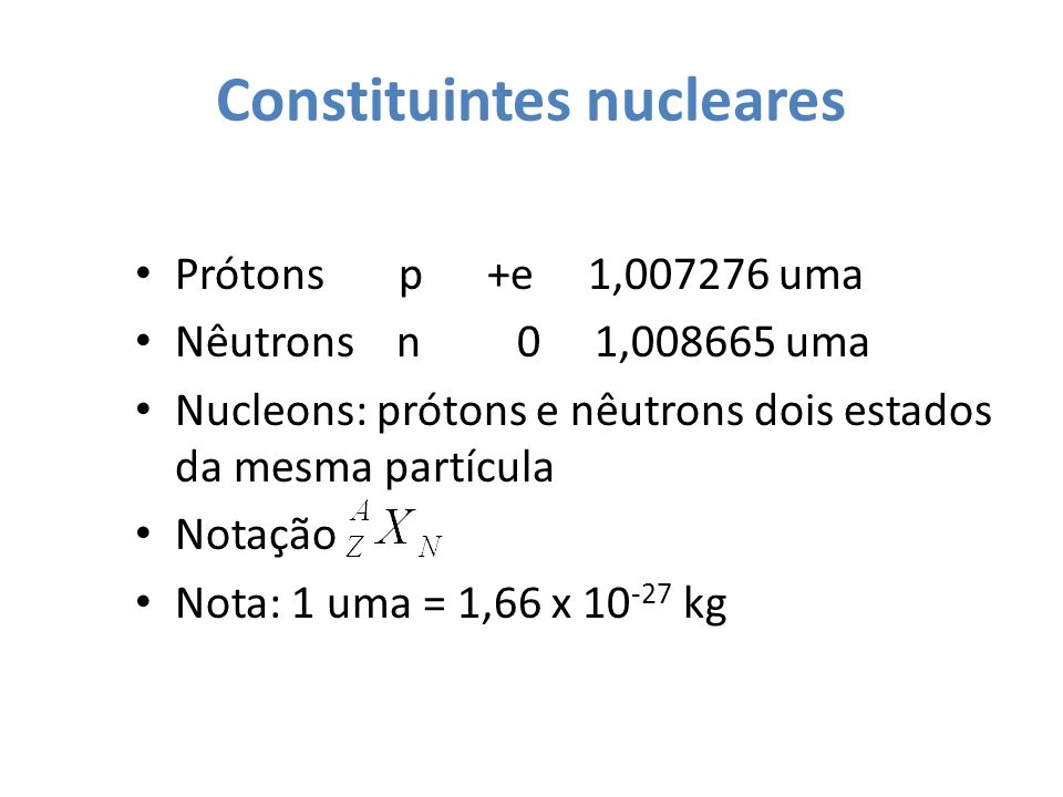 Constituintes nucleares