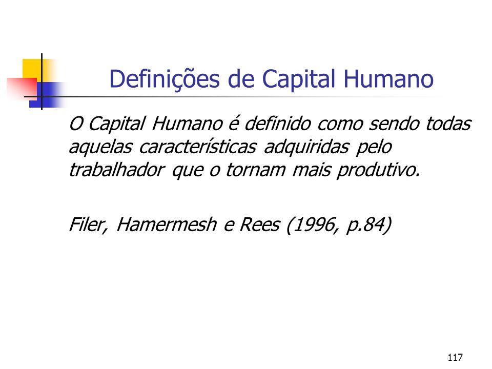 Definições de Capital Humano