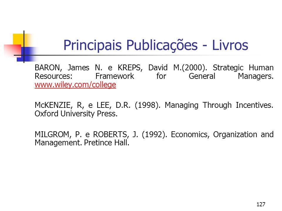Principais Publicações - Livros