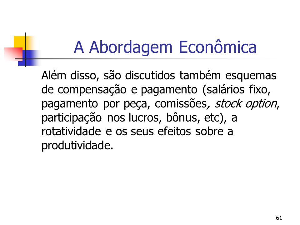 Stock options economia