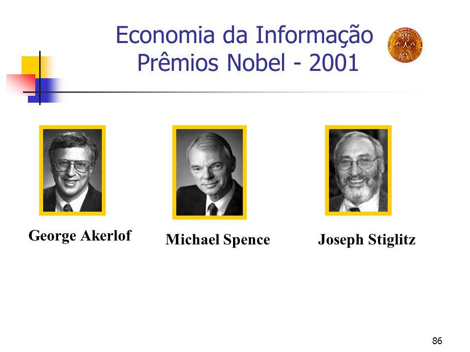 Economia da Informação Prêmios Nobel - 2001
