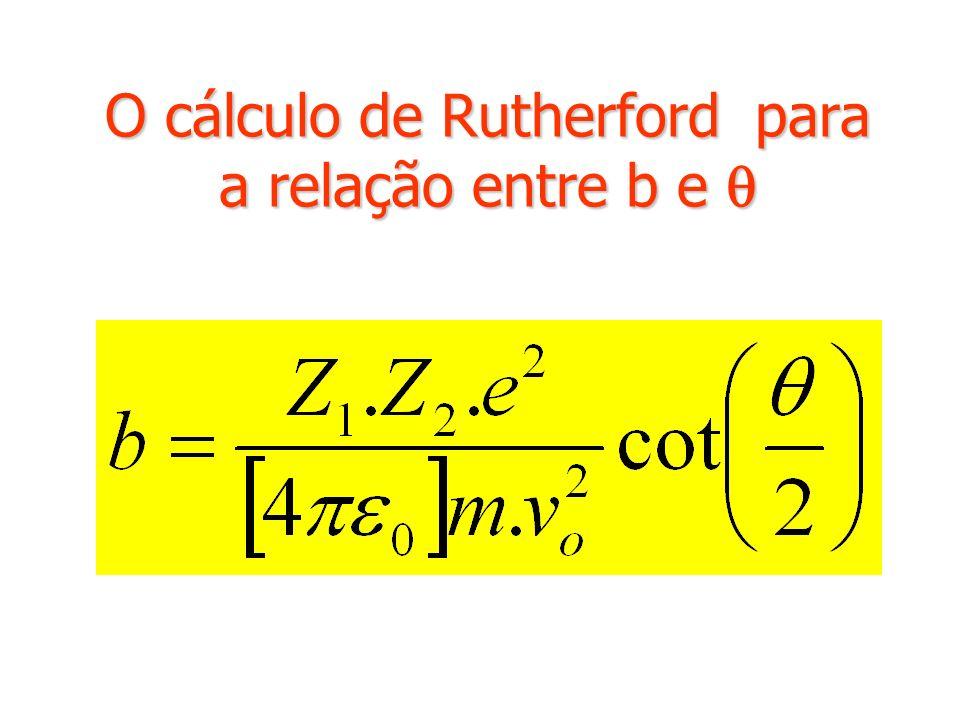 O cálculo de Rutherford para a relação entre b e 