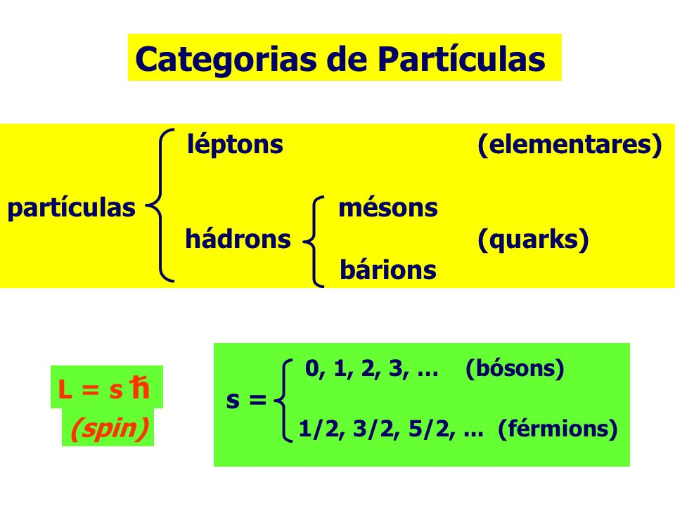 Categorias de Partículas