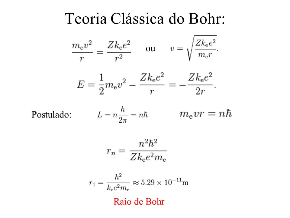 Teoria Clássica do Bohr: