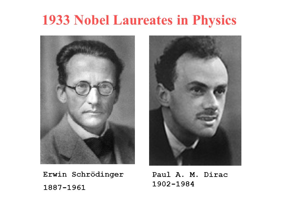 1933 Nobel Laureates in Physics