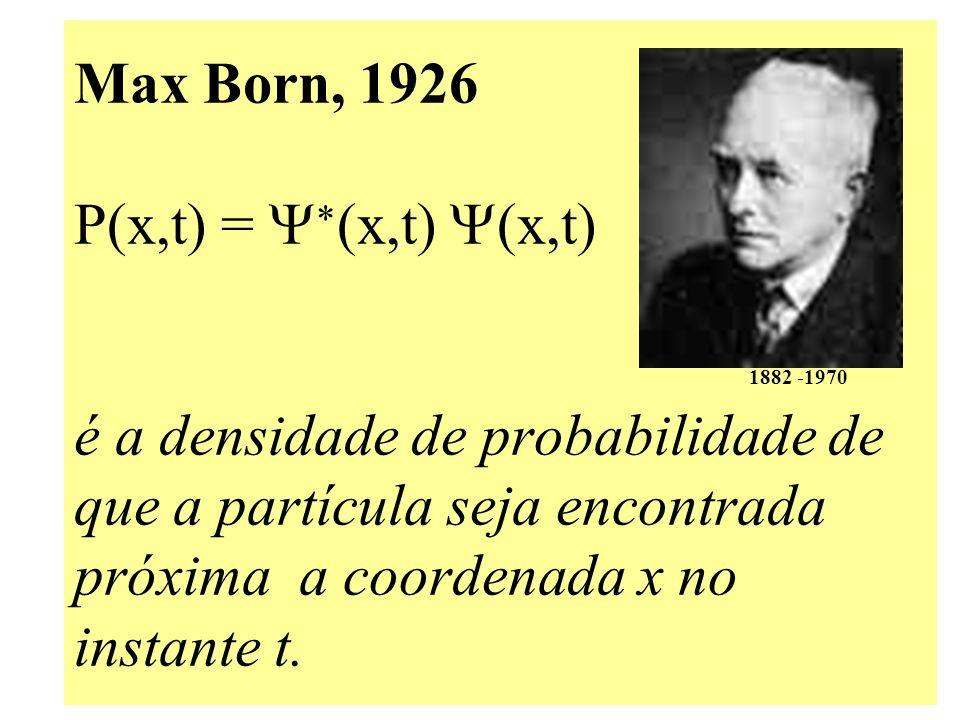 Max Born, 1926 P(x,t) = Y. (x,t) Y(x,t)