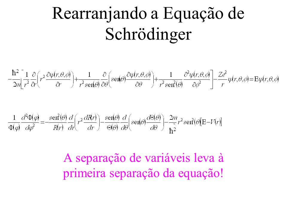 Rearranjando a Equação de Schrödinger