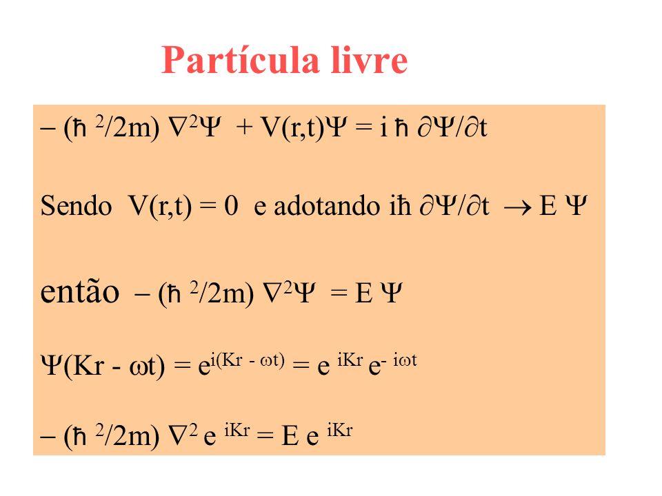 Partícula livre então - (ħ 2/2m) 2Y = E Y