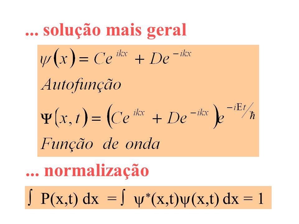 ... solução mais geral ... normalização ħ