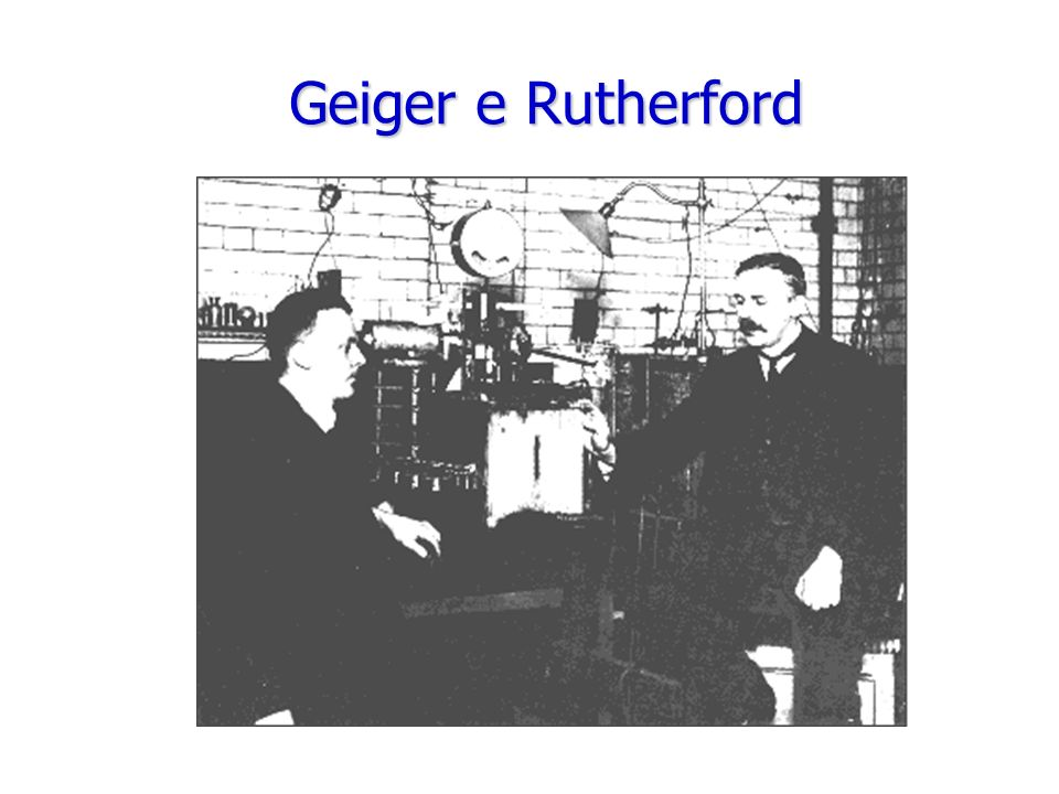 Geiger e Rutherford