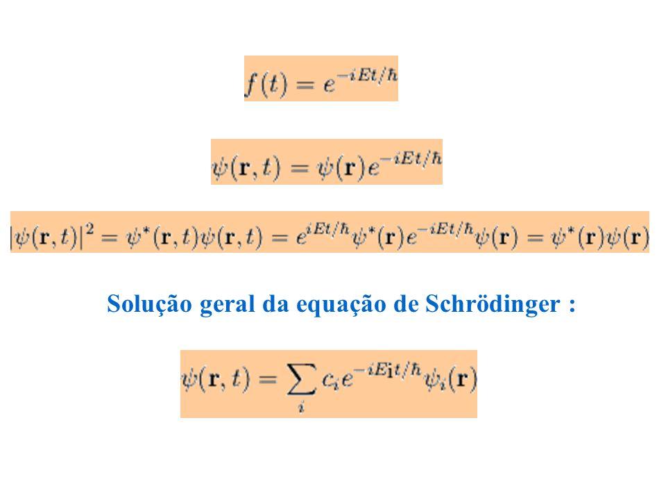 Solução geral da equação de Schrödinger :