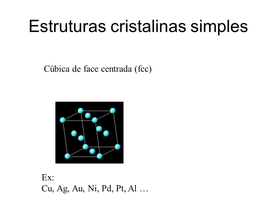 Estruturas cristalinas simples