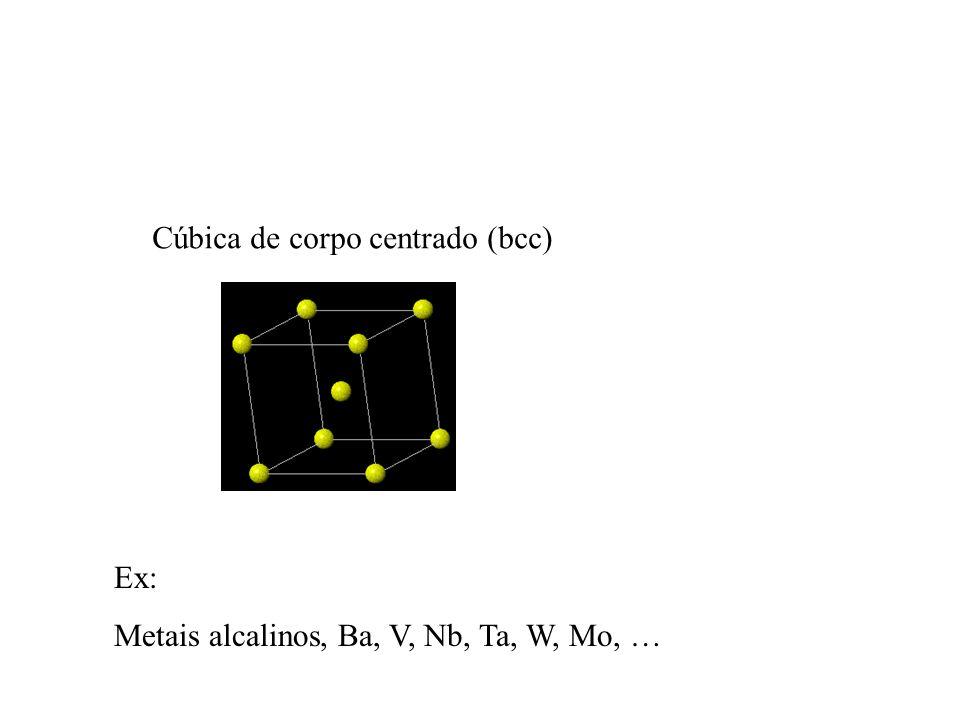 Cúbica de corpo centrado (bcc)