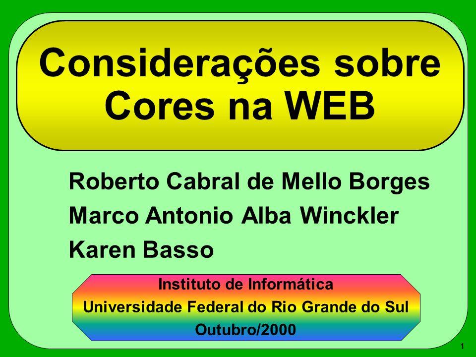 Considerações sobre Cores na WEB