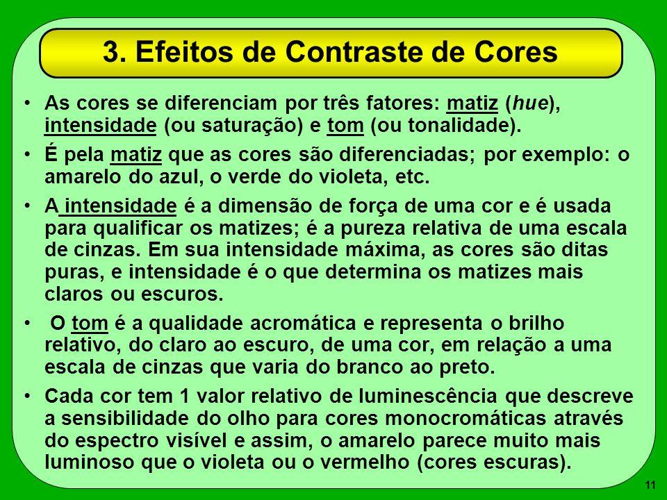 3. Efeitos de Contraste de Cores