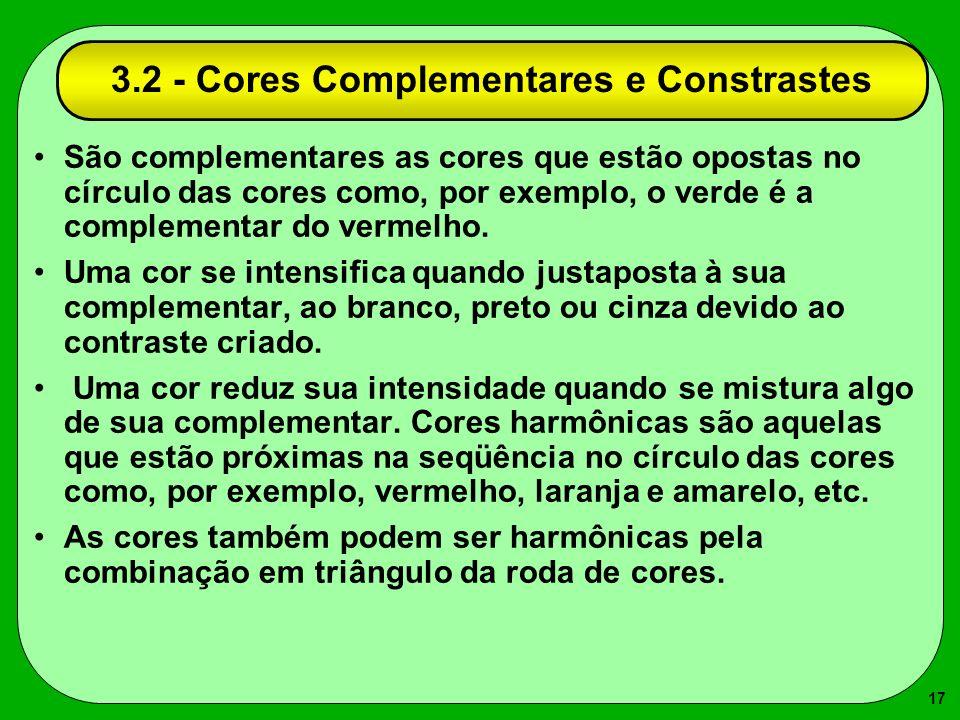 3.2 - Cores Complementares e Constrastes