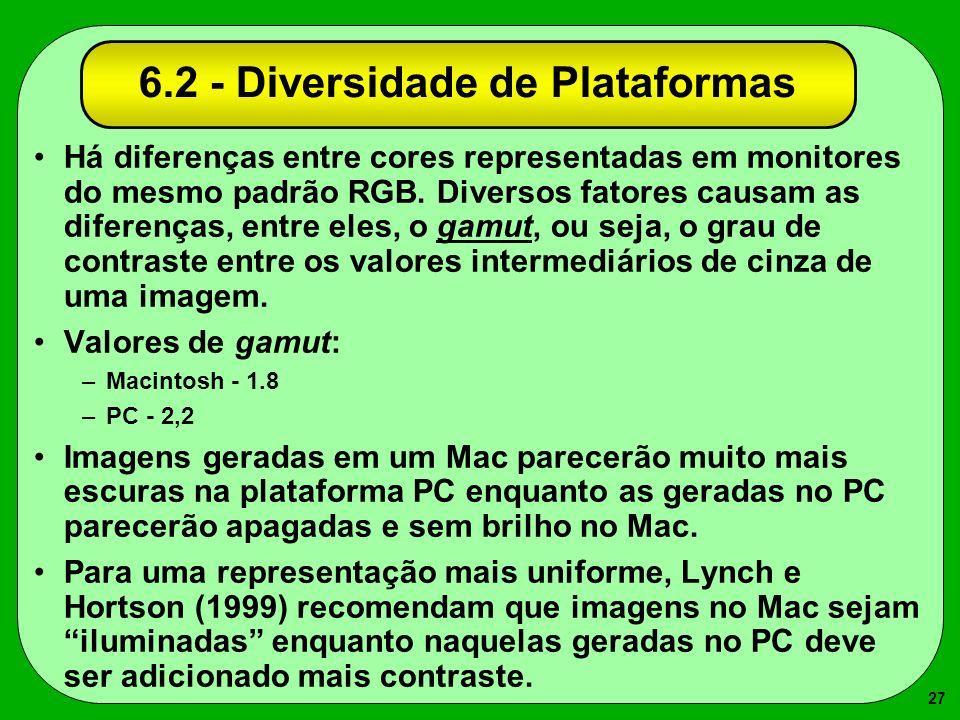 6.2 - Diversidade de Plataformas