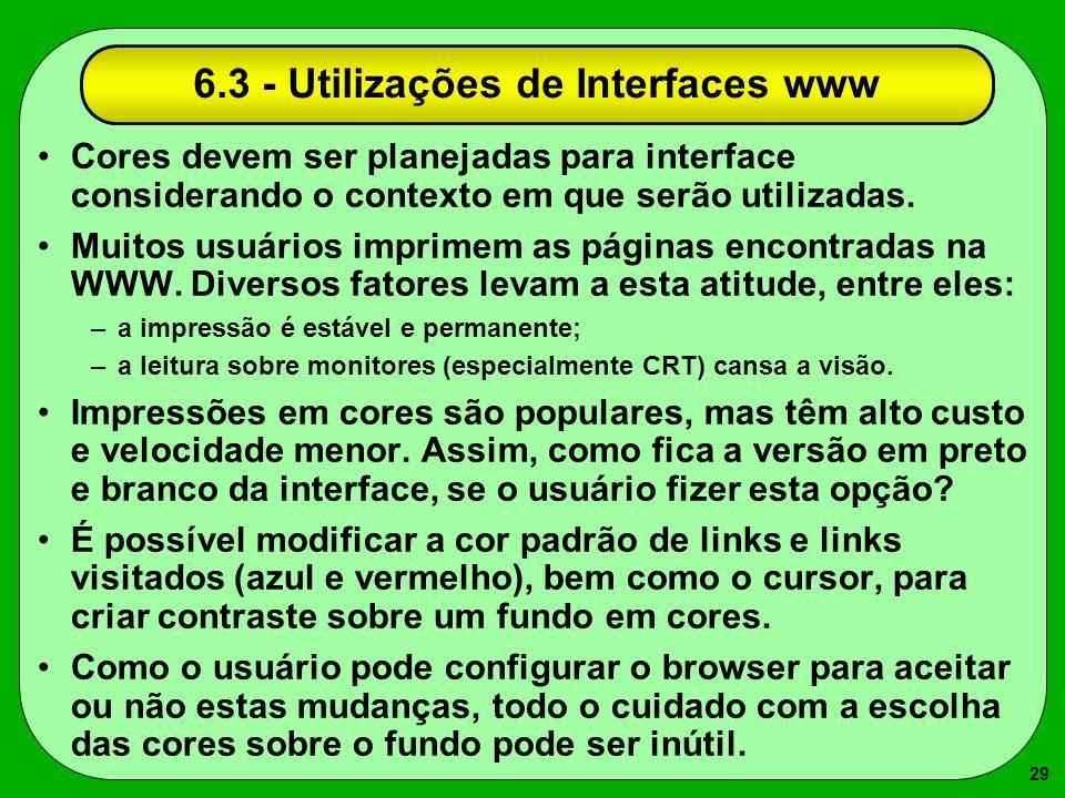 6.3 - Utilizações de Interfaces www