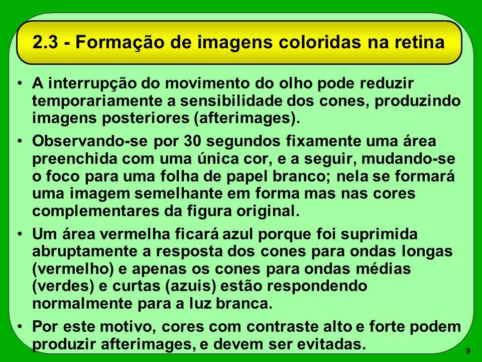 2.3 - Formação de imagens coloridas na retina