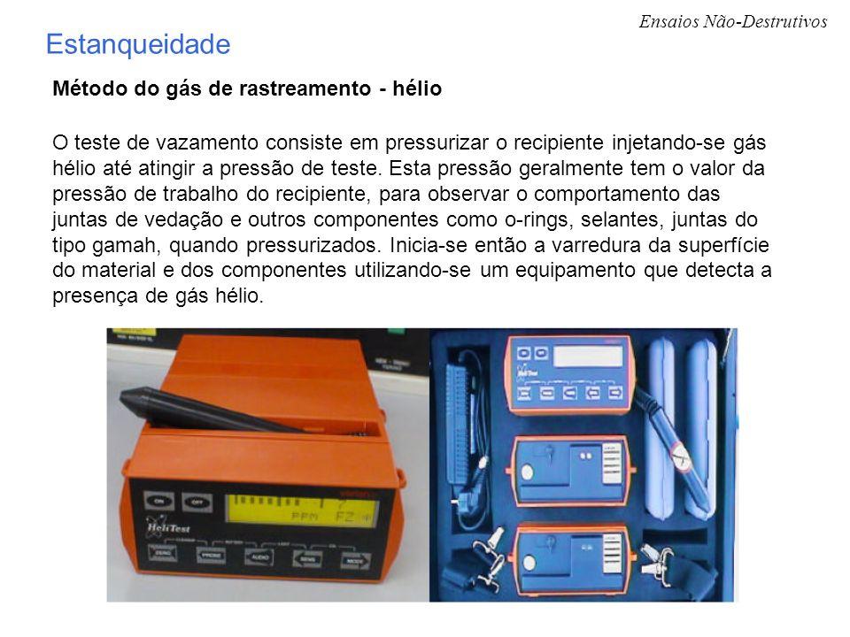 Estanqueidade Método do gás de rastreamento - hélio