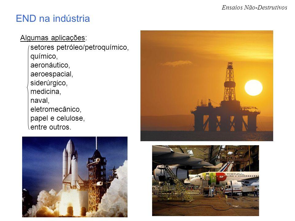 END na indústria Algumas aplicações: setores petróleo/petroquímico,