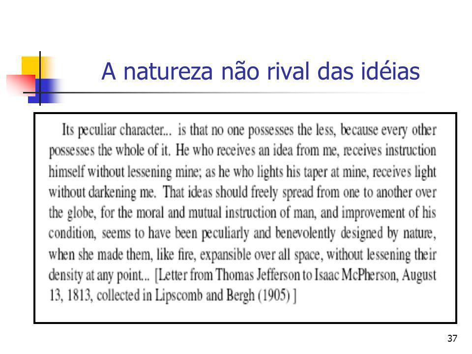 A natureza não rival das idéias