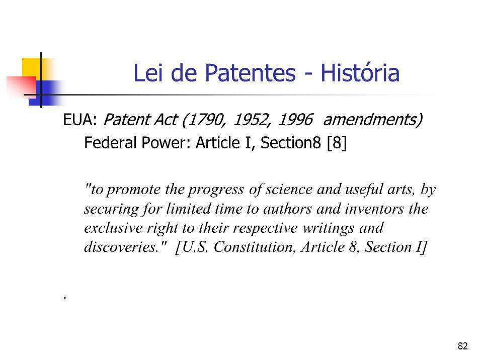 Lei de Patentes - História