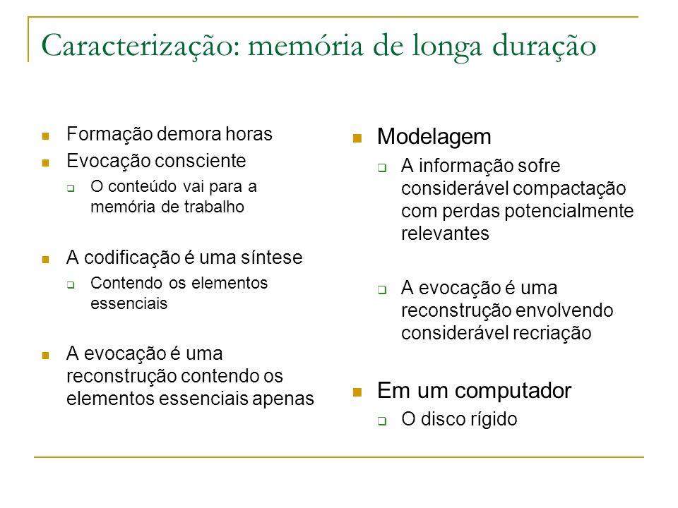 Caracterização: memória de longa duração