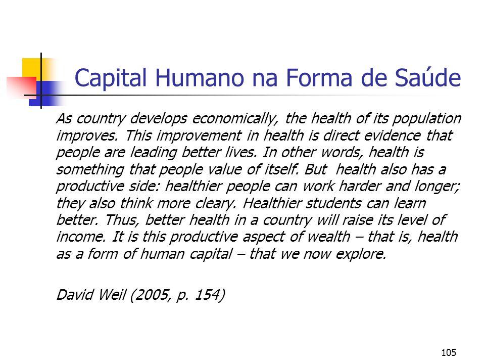 Capital Humano na Forma de Saúde