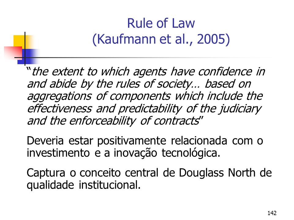 Rule of Law (Kaufmann et al., 2005)