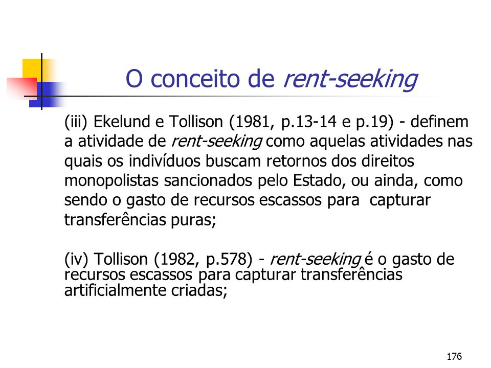 O conceito de rent-seeking