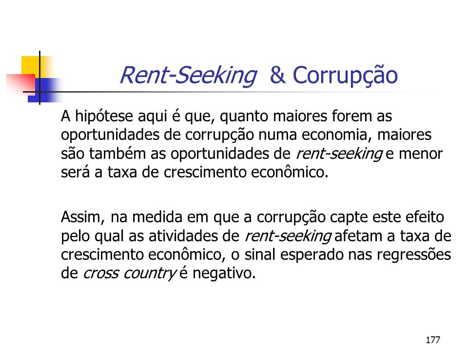 Rent-Seeking & Corrupção