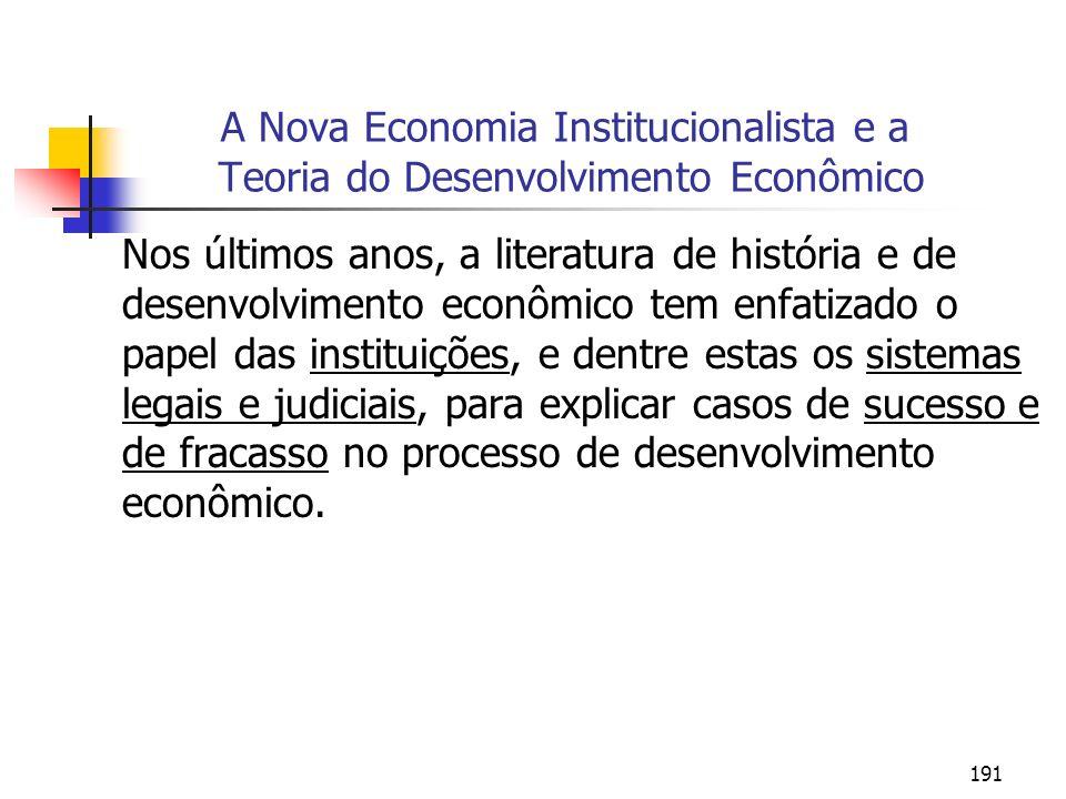 A Nova Economia Institucionalista e a Teoria do Desenvolvimento Econômico