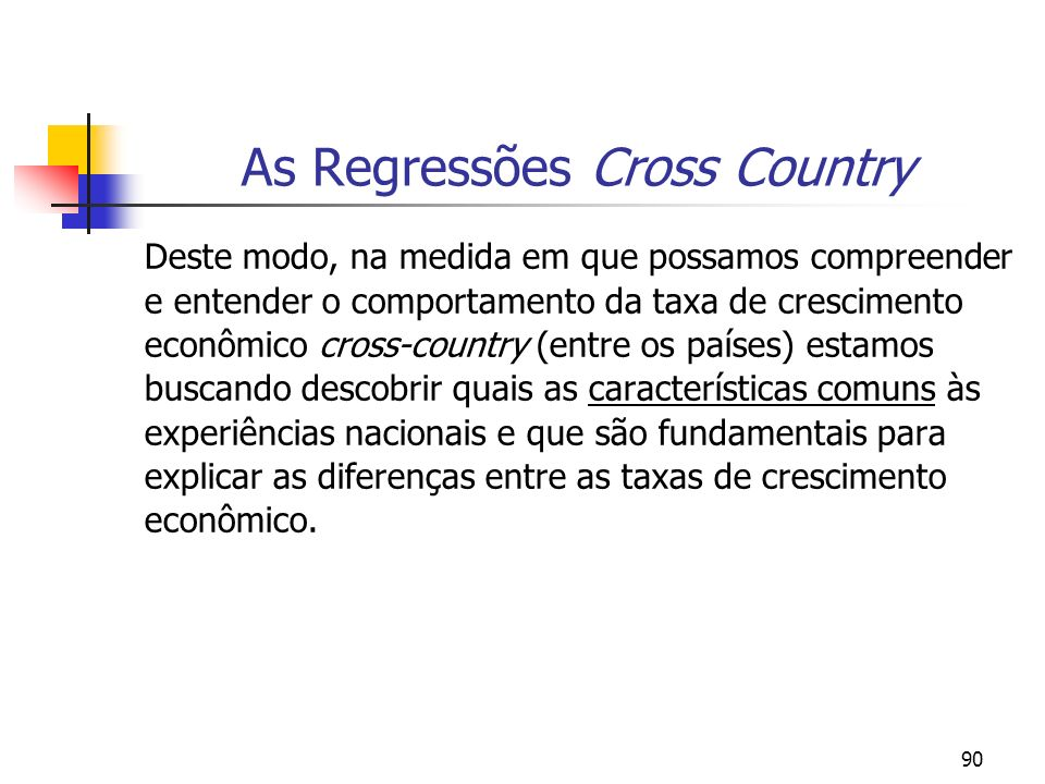 As Regressões Cross Country